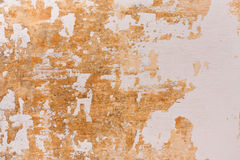 Chipped paint on old wall background. Old cement plastered wall that has chipped paint Stock Photography