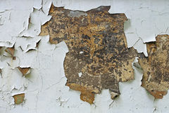Chipped Paint. Peeling of House Wall Stock Images