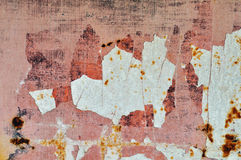 Chipped paint rusty metal Royalty Free Stock Photography