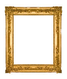 Chipped vintage gold ornate frame Royalty Free Stock Image