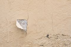 Chipped wall. With a orange paing royalty free stock photos