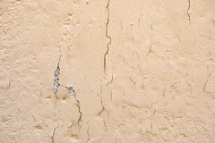 Chipped wall. With a orange paing royalty free stock image