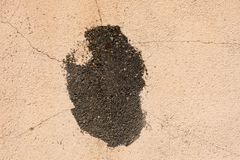 Chipped wall. With a orange paing royalty free stock photo