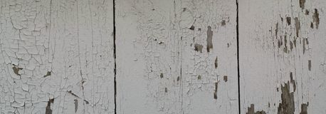 Chipped and Weathered Painted Wood Background Panorama Royalty Free Stock Photography