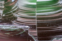 Chipped welding glass Stock Photography
