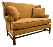 Chippendale Settee Loveseat. With Cherry Wood Legs Stock Image