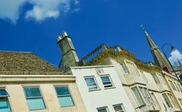 The Chippenham skyline. Chippenham Wiltshire England united kingdom royalty free stock images