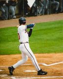 Chipper Jones take a check swing. Royalty Free Stock Images