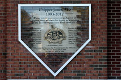 Chipper Jones tribute Stock Image