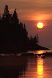 восход солнца гавани chippewa стоковая фотография