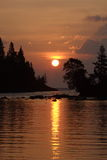 Chippewa Harbor Sunrise. Sunrise on Chippewa Harbor - Isle Royale National Park Stock Photos