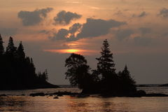 Chippewa Harbor Sunrise. Sunrise on Chippewa Harbor - Isle Royale National Park Royalty Free Stock Photos