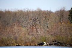 Chippewa sjön parkerar, Ohio, Medina County Royaltyfria Foton