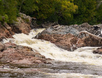 Chippewa spadki i rzeka Obrazy Royalty Free