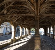 Chipping Campden, Gloucestershire, UK. Market Hall, historic arched building standing in the centre of the town
