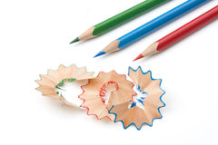 Chippings And Pens Royalty Free Stock Photography