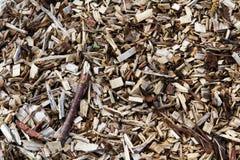 Chippings de madeira Bom para uma textura do fundo Fotos de Stock