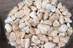 Chippings and gravel of marble and sandstone colored. All Stock Photo