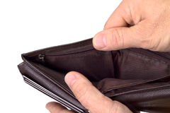 Chippy коричневый кожаный бумажник Стоковое Изображение RF