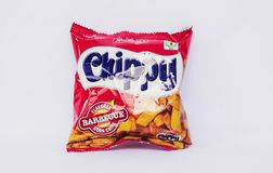 Chippy Barbeque Flavored Corn Chips royalty-vrije stock fotografie
