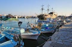 Chipre, barco de prazer, uma réplica da pérola preta famosa imagem de stock royalty free