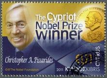 CHIPRE - 2011: mostras Christopher Pissarides Fotos de Stock