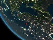 Chipre en la noche de la órbita libre illustration