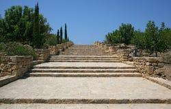 chipre Kato-Paphos escaleras Imagen de archivo