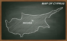 Chipre no quadro-negro Imagem de Stock