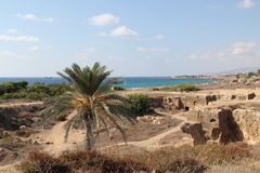 Chipre, Paphos, tumbas de los reyes Fotos de archivo libres de regalías