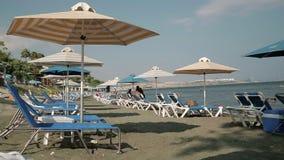 chipre Playa solar Lugar para el resto almacen de video