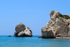 Chipre 2011 Roca del Aphrodite 3 Imagen de archivo