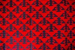 Chiprovtsi legt Wolldecken mit Teppich aus Stockfotos