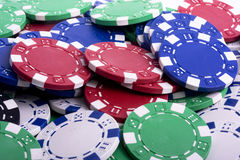 Chips. Poker chips in casino games stock images