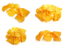 Chips. On white background stock images