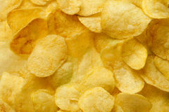 Chips. On the table, close up Stock Photography