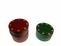 Chips. Stacks of casino chips Royalty Free Stock Photography