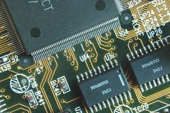 Chips. Printed circuit board with chips royalty free stock photo