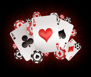 Chips and aces Stock Images