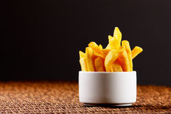 Chips, alias Pommes-Frites Stockbild