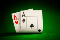 Chips And Two Aces Stock Image