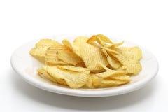 Chips auf einer Platte Lizenzfreie Stockbilder