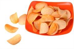 Chips auf Platte Stockfotografie