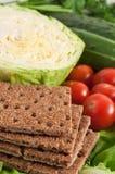 Chips avec des légumes Photos libres de droits