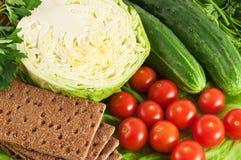 Chips avec des légumes Photographie stock