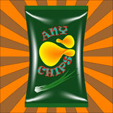 Chips Bag Image libre de droits
