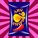 Chips Bag Images stock
