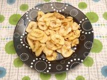 Chips of banana Stock Photo