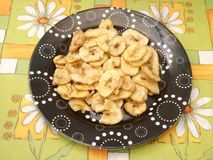 Chips of bananas Royalty Free Stock Photography