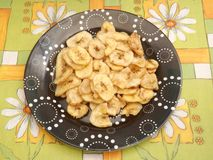Chips of bananas Stock Photo